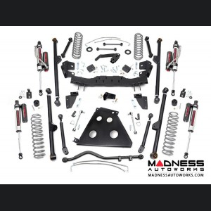 "Jeep Wrangler JK Unlimited Long Arm Suspension Kit w/Vertex Reservoir Shocks - 4"" Lift"